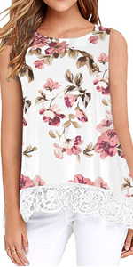 floral tank tops