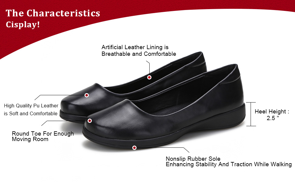 Bonrise Womens Leather Loafers Flats Comfort Casual Round Toe Slip-on Moccasins Wild Breathable Driving Shoes Black
