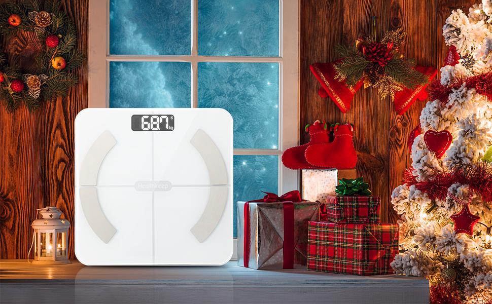 bascula peso corporal exzact báscula corporal bascula de baño digital bascula regalo de Navidad