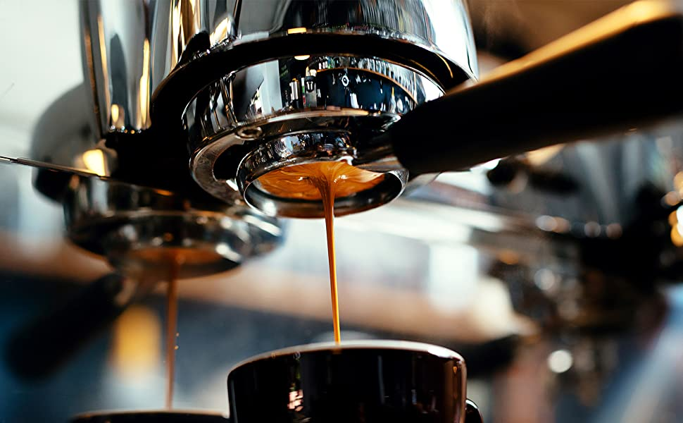 espresso pour coffee machine brew