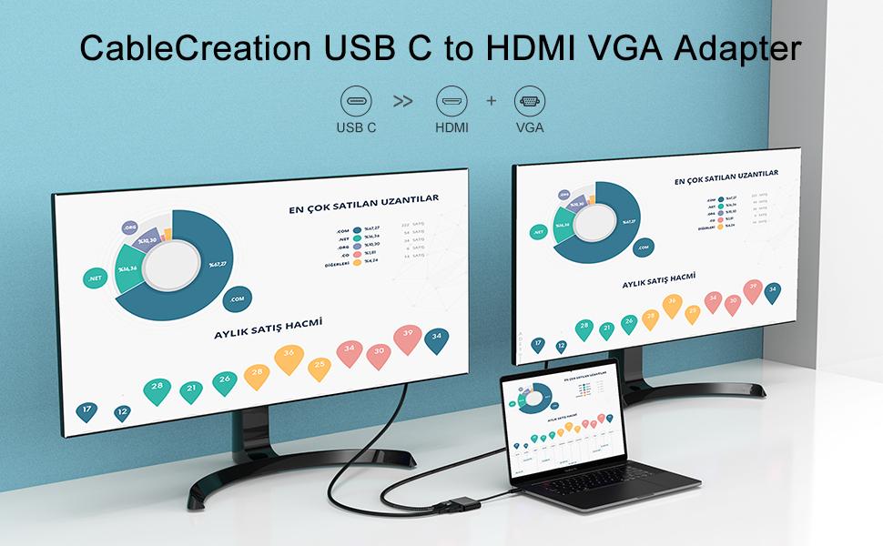 USB C to HDMI VGA