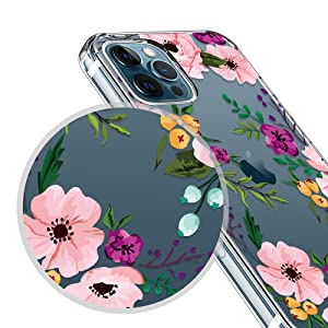iphone 12 pro max case for women, iphone 12 max case, floral iphone 12 pro max case for girls