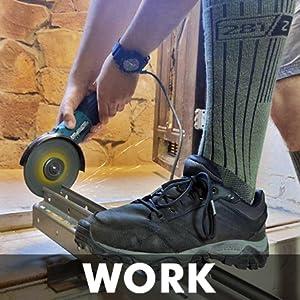 Botas de trabajo con punta de acero resistente soldadura, protección de corte de pico uniforme