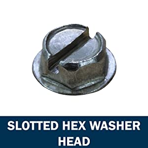 Slotted Hex Washer Head Screws