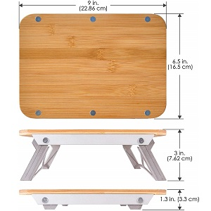 ncamp bamboo cutting board camping food prep surface table collapsible compact