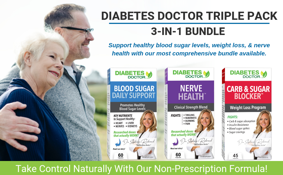 diabetes doctor triple pack nerve miracle sugar blocker daily diabetic support insulin resistance