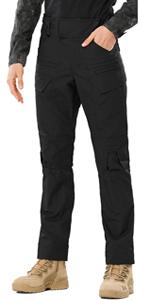 Men's Tactical Pants Water Repellent Ripstop Cargo Work Pants EDC Hiking Military Work Pants
