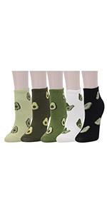 avocado ankle socks