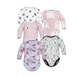 Tama/ños 56-74 Pack de 3 SIBINULO Ni/ño Ni/ña Pijama Beb/é Pelele de Algod/ón