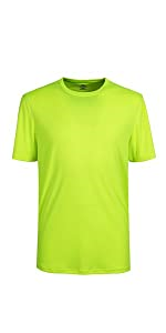 Mens Quick Dry Fit Mositure Wicking Athletic Performance T Shirt -Crew neck
