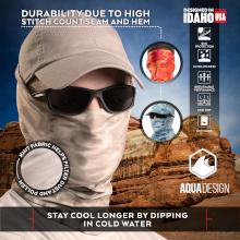 Aqua Design Face mask sun  upf uva spf protective active wear breathable mens male face mask