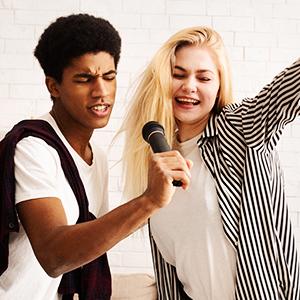 Karaoke microphone mic input pa speaker