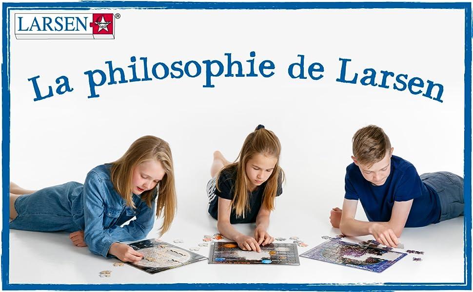 La philosophie de Larsen Puzzles est de fabriquer des puzzles pour enfants de la plus haute qualité