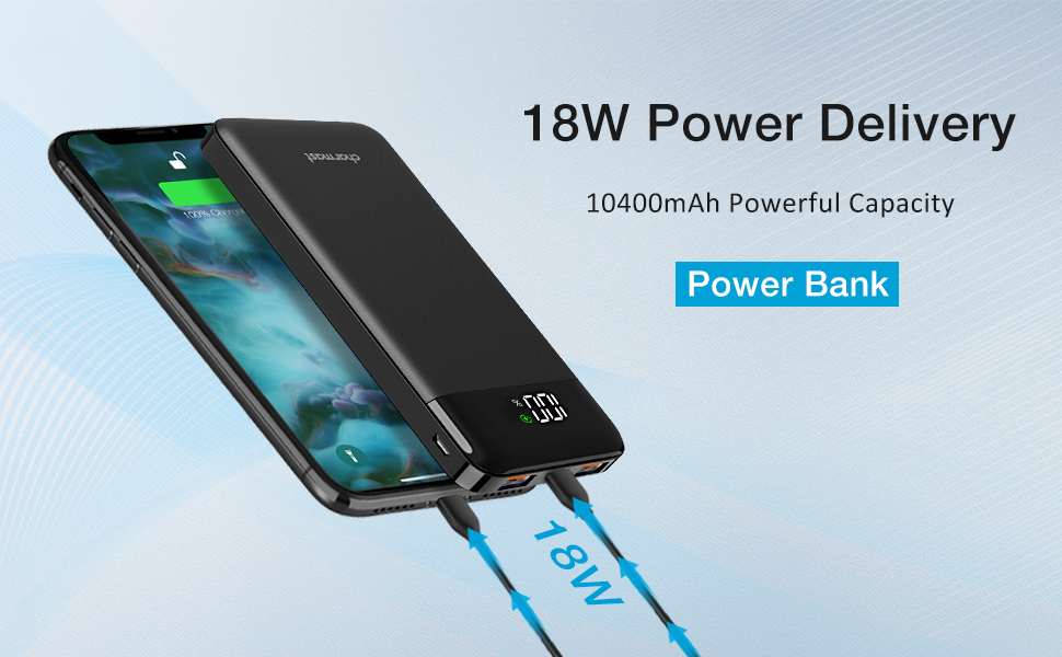 power bank fast charging 18w power delivery power bank 10000mah power bank quick charge 3.0