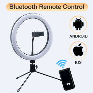 Selfie Ring Light with Bluetooth Remote Control