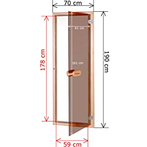 Suleno, Saunatür bronziert