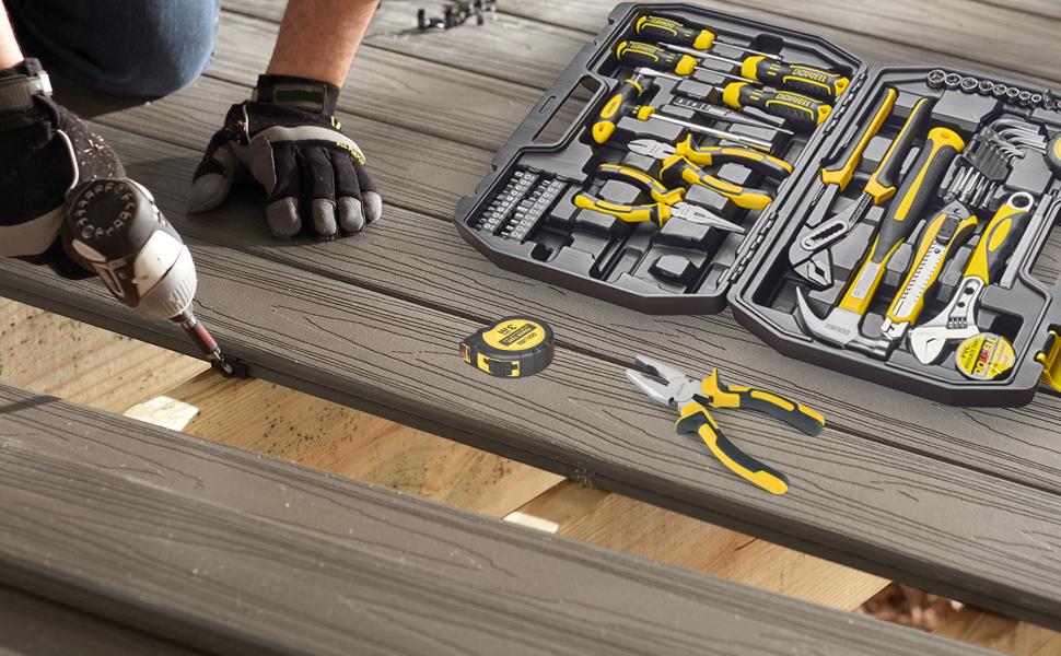 household tool set tool box