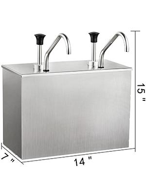 2 x 4 l Distributeur de sauce pompe en acier inoxydable