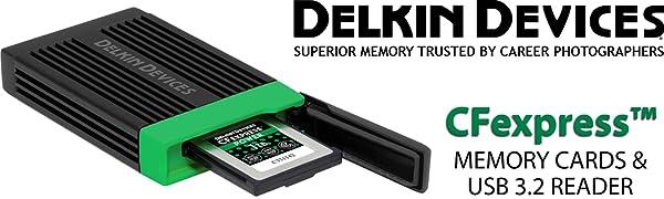 CFexpressカードリーダ Delkin DDREADER-54