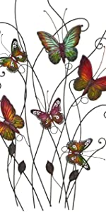 Metal Butterfly Wall Art, Inspirational Wall Decor Sculpture Hanging for Indoor and Outdoor