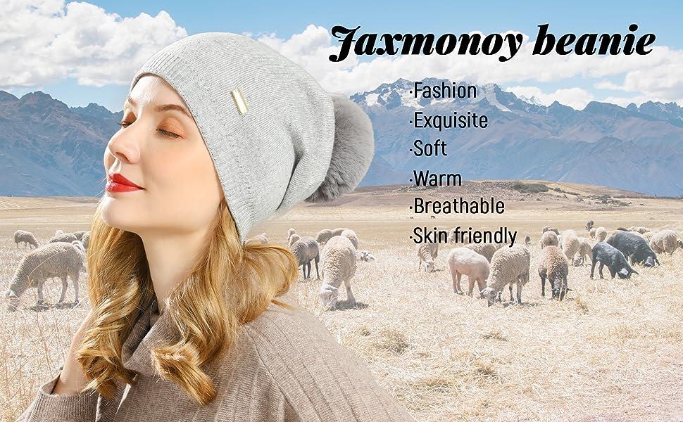 Jaxmonoy slouchy beanie for women winter