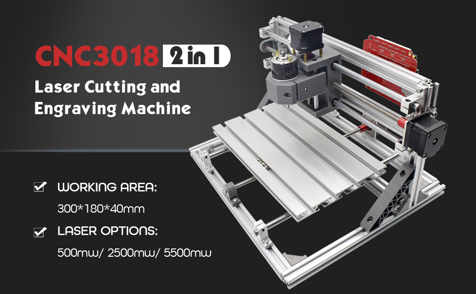 CNC 3018 2 in 1 Laser Cutting and Engraving Machine
