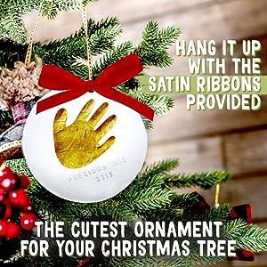 baby ornament handprint footprint kit christmas gift gits ornaments newborn clay art kits hand foot