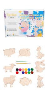Set Artístico para Niños + 16 Formas de Animales