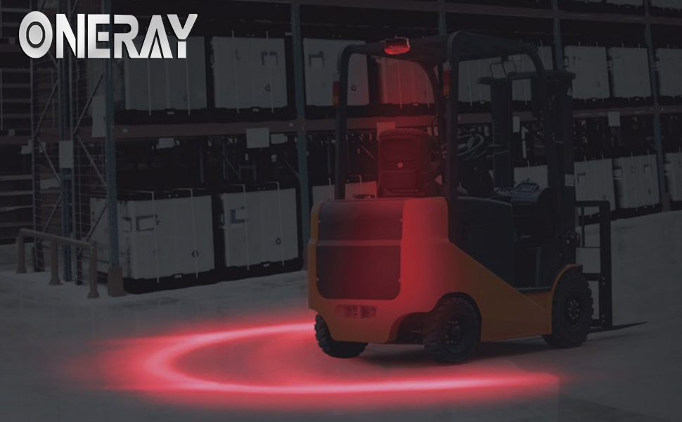 Arch zone forklift safety light red