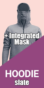 hoodie slate hood navy blue sweatshirt warm sport cool jogging fleece mask