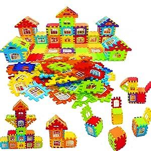 building blocks house blocks