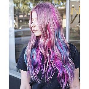blue purple hair extensions