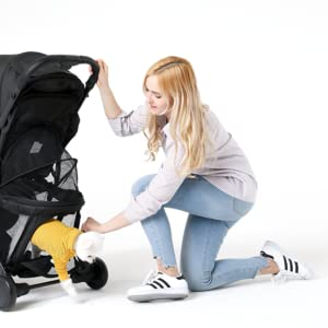 One Handed Folding Lightweight Stroller Ideal for Travel Keenz Air Plus Stroller Baby Stroller from Newborn to Toddler Canopy 2 in 1 Baby /& Pet Stroller Activity Tray Covers /& Accessories