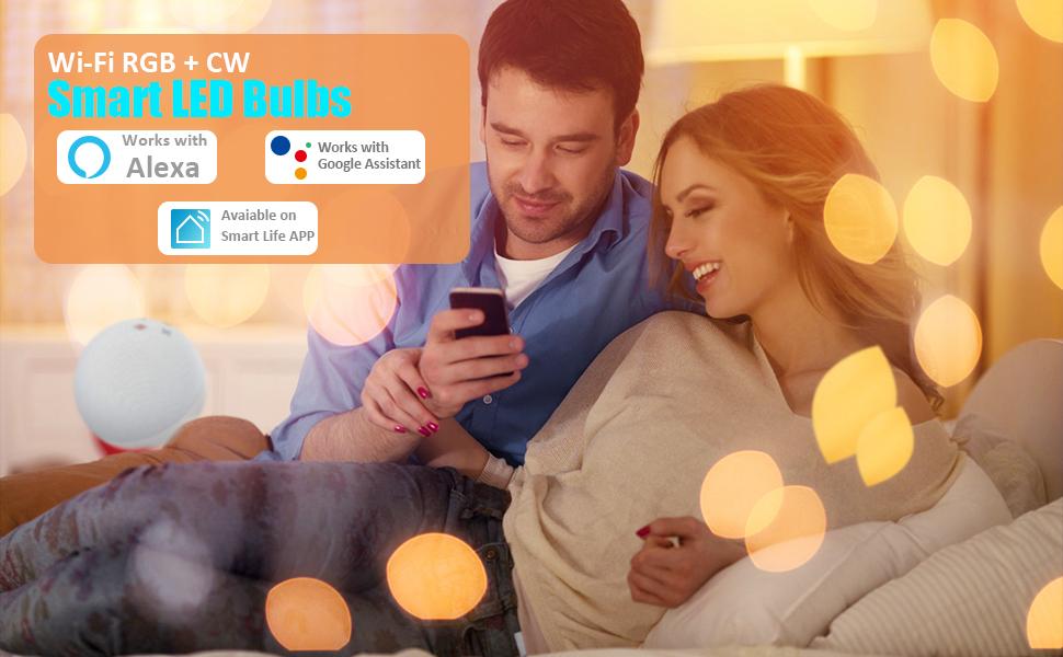 Wi-Fi RGBCW Smart Led Bulbs