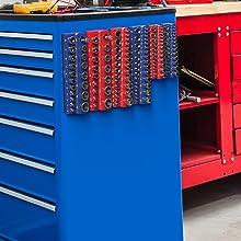 Olsa Tools Magnetic Socket Organizer | 3 Piece Socket Holder Kit | 1/2-inch, 3/8-inch, 1/4-inch Driv