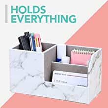 Desk organizers desktop French koko leather office cute pen holder drawer accessories pad pencil cup