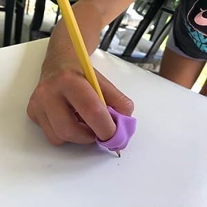 Posture Correction Tool Writing Aid Grip Ergonomic Silicone Finger Grip Training pencil grip