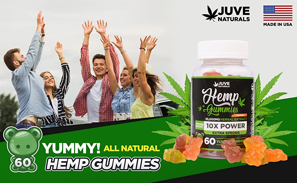 hemp oil gummies, natural, pain and anxiety relief, sleep, insomnia, fatigue, jet lag, made in usa