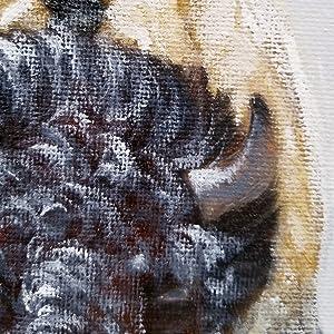 Detail der Bison-Studie-Malerei