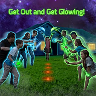 Starlux game backyard family togetherness glow in the dark lights