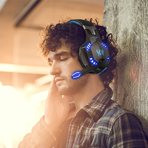 G2000 Gaming Headset, Surround Stereo Gaming Headphones with Noise Cancelling Mic