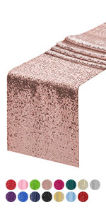 12*72Inch rose gold sequin table runner