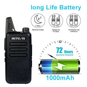 rechargeable two way radios with long battery life