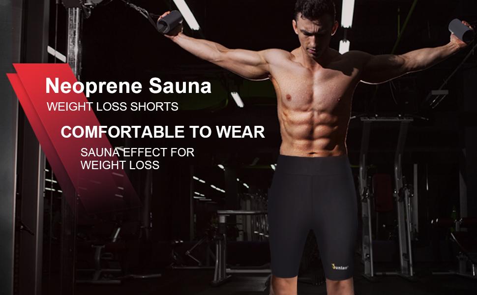 Junlan Men's Weight Loss Sauna Hot Sweat Thermo Shorts