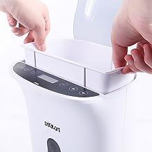 Entnehmbare Schale für leichte Reinigung
