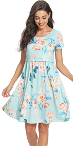 GLAMIX Nursing Short & 3/4 Long Sleeve Dress