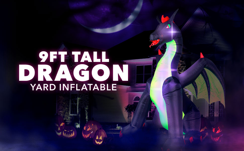9 feet ft tall dragon inflatable
