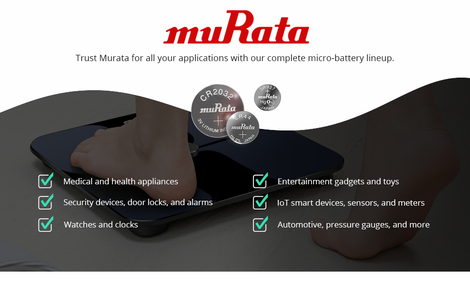 Murata battery line-up