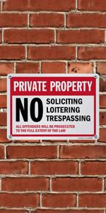 Private Property No Trespassing