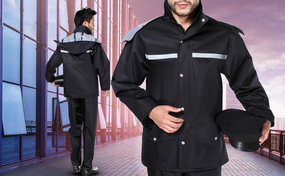 L, Army fans Tianwang Skynet Rain Suit Jacket /& Trouser Suit Raincoat Unisex Outdoor Waterproof Anti-storm